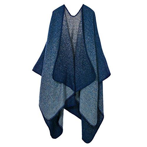 Hiver Shawl Chaud Cardigan Wrap Femmes Surdimensionnés Cape Okeh Couverture Long 12 Manteau Châle Poncho 5qzpAvx