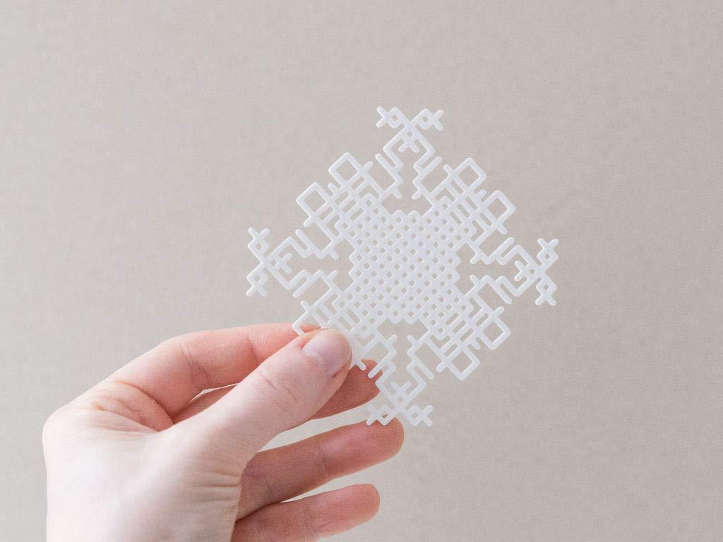 Moderner skandinavischer Weihnachtsbaumschmuck Anh/änger Weihnachtsbaum wei/ß 3D-gedruckt
