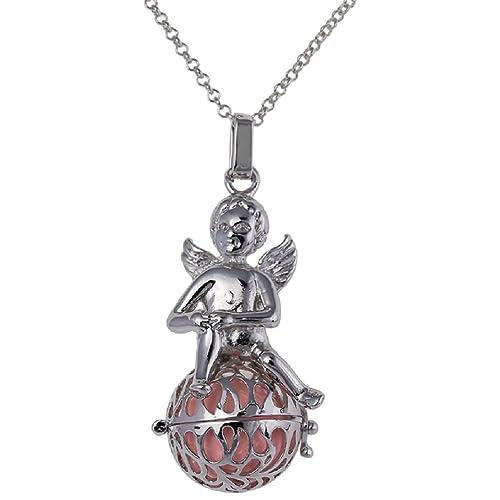 Top Engelsrufer mit Engel Kugel Halskette + Klangkugel Kette Amulett  Harmony Ball Anhänger (Rosa) adbba21390