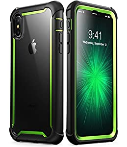 iPhone X case, i-Blason [Ares] Full-body Rugged Clear Bumper Case with Built-in Screen Protector for Apple iPhone X 2017 Release