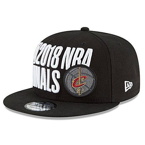 Conference Champion Cap - Official Cavaliers 2018 Eastern Conference Champions Locker Room Snapback Adjustable Hat – Black - FLAT BILL