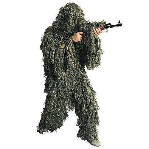 Auscamotek Ghillie Suit for Men Gilly Suit for Hunting M/L Green ()
