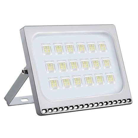 100W LED Foco proyector, Focos exterior de luz blanca fría, focos industriales, reflectores