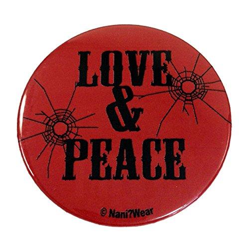 Nani?Wear Trigun 2.25 Inch Anime Button: Love & Peace