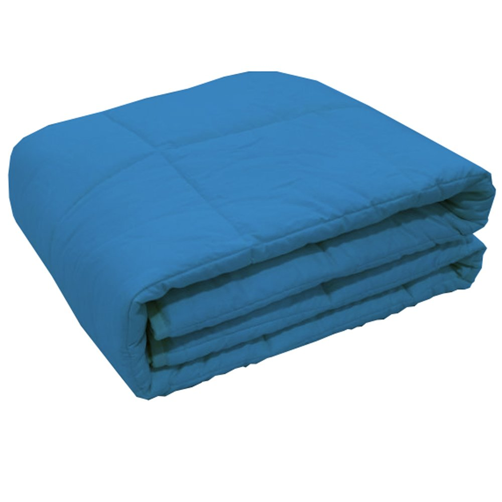 XILI Blue Weighted Blanket for Girls, Helps Reduce Stress and Anxiety, Great for Anxiety, ADHD, Autism, OCD, and Sensory Processing Disorder(48''x78'', 15lbs,Dark Blue) by XILI