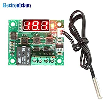 W1209 Digital LED DC 12V Heat Cool Temp Thermostat Temperature Control Switch Module On Off Controller