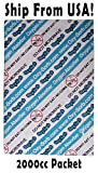 OHO Package of 10/ 2000cc Oxygen Absorbers/Scavengers - Great for 1 or 2 Gallon Food Storage! New