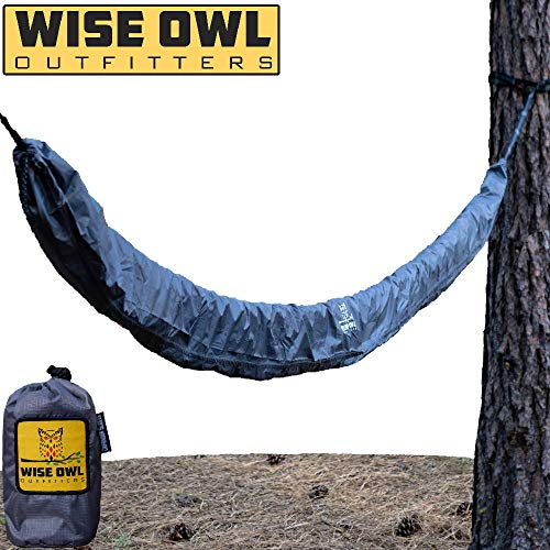 Wise Owl Outfitters Hammock Sleeve - Snakeskin Defender Protective Storage Rain Cover - Waterproof & UV Protection for Hammocks, Rain Fly, Tarps and Camping Gear Accessories