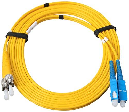 Allen Tel GBSTC-D1-03 Fiber Optic Cable Assembly Patch Cord, ST To SC, Duplex Cable, Singlemode Fiber, 3-Meter Length…