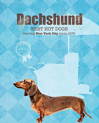 Dachshund Hot Dog Co. Vintage Dog Poster Print 11x14 - Customizable City and State- Please email directly after purchase -