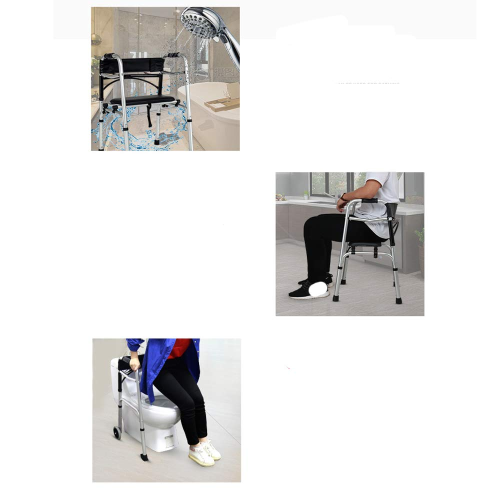 Rollator Walker Brake with Seat Aluminum Alloy - Rolling Walker for Seniors, Disabled with Back Support- Height Adjustable, Portable, Lightweight, Waterproof, 320lbs Support by urge medical