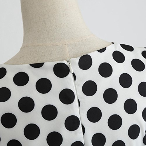 Women Accept Hepburn Classy White Coolred Audrey Dress Waist 1950s Flattering wdq4xBSH