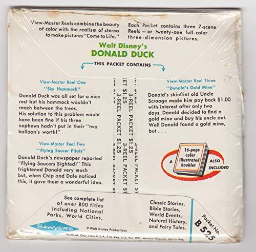 View Master Walt Disney's Donald Duck Set of 3 Vintage 1960s Reels New Sealed Packet #B-525