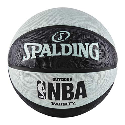 Spalding NBA Varsity Outdoor Rubber Basketball - Black/Blue - Official Size 7 (29.5