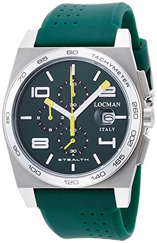 LOCMAN watch stealth Taki metric quartz chronograph men's 0209 020900AGRWHYSIG Men's [regular imported goods]