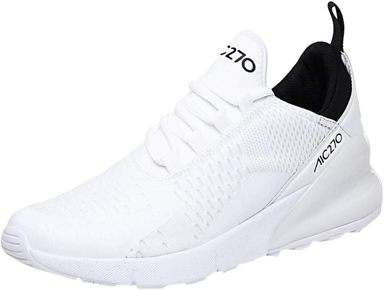 Alaso - Zapatillas deportivas para hombre, para correr, competición, entrenamiento, fitness, tenis, atlética, zapatillas deportivas blanco 42: Amazon.es: Ropa y accesorios