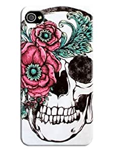 Diy iphone 5 5s case Beautiful Skull iphone 4/5 5S Hard oranges Back chlorine Shell Case Cover Skin for iphone 4/5 5S Cases - Beautiful Skull Background image #2 attributes