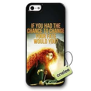 Disney Brave Princess Merida Hard Plastic Phone Case & Cover for iPhone 5/5s - Black 1