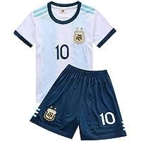 PAOFU-Argentinsk fotboll nationellt lag lejon Messi # 10 fotboll trikot barn ungdom fotboll tröja