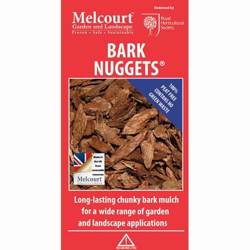 Melcourt Decorative Bark Large Nuggets Mulch 60L