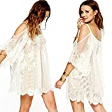 Bolayu New Fashion Sexy Leopard Women Summer Cocktail Party Casual Mini Dress (L)