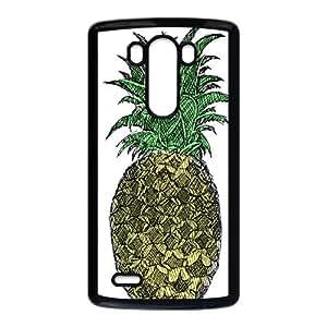 LG G3 Cell Phone Case Black Pineapple Sketch YD682659