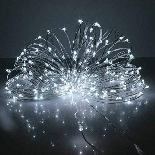 luces de hadas luces de decoraci/ón solar impermeable para jardines Guirnalda de luces LED con energ/ía solar fiestas 100 luces LED de alambre de cobre ZONJIE bailes