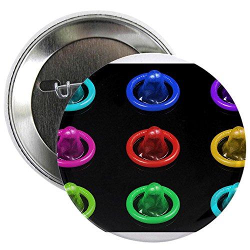 Condom Pops Condoms (CafePress - Condom Rainbow Pop Art 2.25