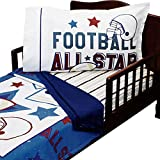 3pc RoomCraft All Star Football Toddler Bedding Set American Sports Blanket Sheet and Pillowcase Set