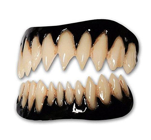 Black Pennywise FX Fangs 2.0 Evil Teeth Dental Veneer]()