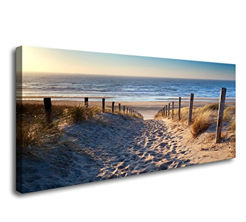 yixuanwall art-canvas Prints,Footprints beach Wall Art oil Paintings Printed Pictures Stretched for Home Decoration (Footprints Canvas)