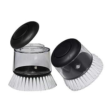 Aolvo - Cepillo dispensador de jabón, 2 unidades para lavavajillas, dispensador de jabón,