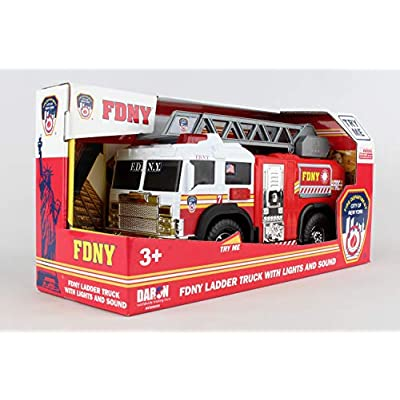 Daron FDNY Ladder Truck with Lights & Sounds 2020 New: Toys & Games