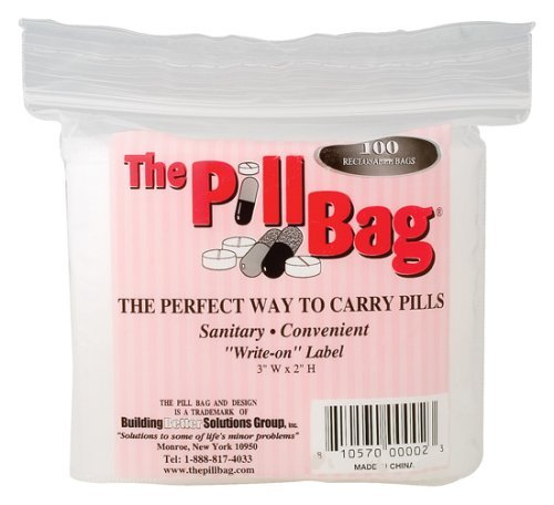- The Pill Bag, 100 Count Ziplock Bag Size 3