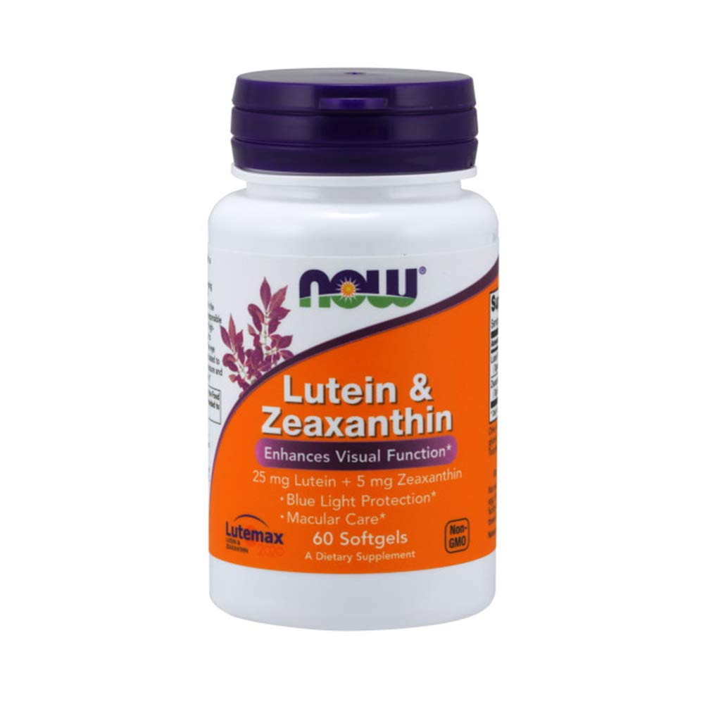 NOW Supplements, Lutein & Zeaxanthin with 25 mg Lutein and 5 mg Zeaxanthin, 60 Softgels by NOW