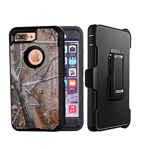 360 Degree Full Body Armor Case for Apple iPhone 7 (Black) - 7