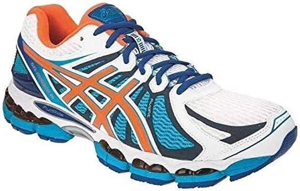 Asics - Zapatillas de running para hombre blanco blanco, color blanco, talla 47: Amazon.es: Zapatos y complementos