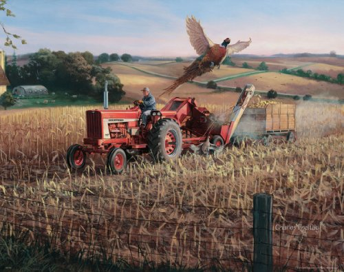 Farmall Case IH Tractor Motivational Poster Art Print 11x14 Charles Freitag Wall Decor Pictures