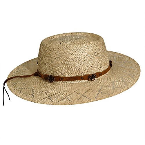 Bailey Women's Renegade Honey Gambler Straw Hat Natural Medium