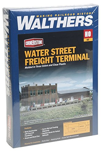 Freight Car Assortment - Walthers Cornerstone HO Scale Water Street Freight Term Structure Kit