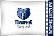 NBA Memphis Grizzlies Micro Fiber Pillow Cases, Standard, White