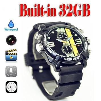 Epte @ 32 GB HD 1080P Mini Cámara Espía Oculta Reloj Sumergible femenino ist portato Tata, DV cámara DVR Reloj: Amazon.es: Bricolaje y herramientas