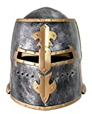 Nicky Bigs Novelties Pewter Medieval Knight Helmet Costume Headwear Accessory