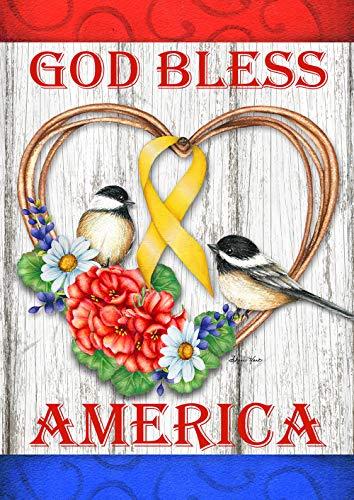 Toland Home Garden 1112375 God Bless America 12.5 x 18 Inch Decorative, Garden Flag (12.5
