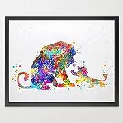 Dignovel Studios 11X14 Lion Watercolor illustration Art Print Nursery decor N092
