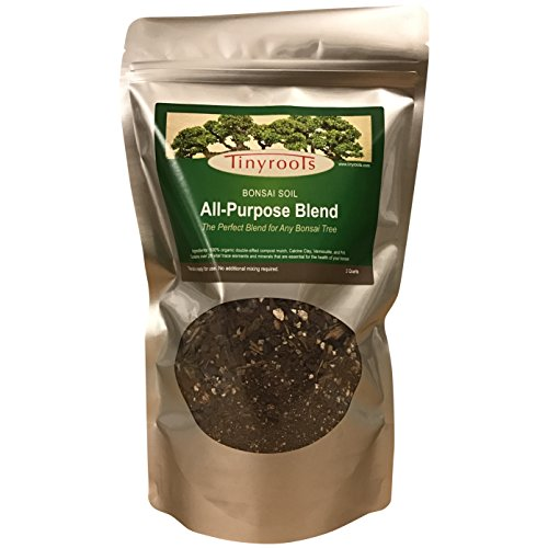 Natural Bonsai (Bonsai Tree Soil All Purpose Blend - Two Quarts - Tinyroots-Brand 100% Organic All Natural Great For Any Bonsai Species Genuine Akadama and Turface 28 FRIT Mineral Additives For Extra)