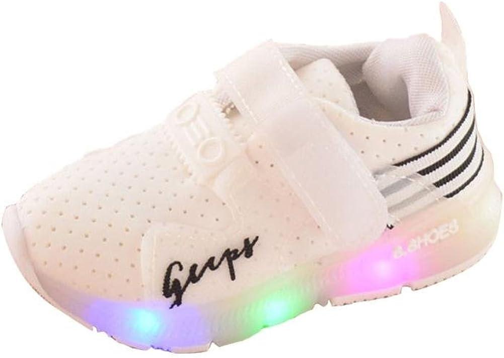 Zapatilla de Deporte, K-youth® Zapatos Deportivos Otoñales Luces LED Zapatillas Deportivas Niños Calzado Infantil Zapatos para Bebe Zapato de Malla Antideslizante