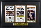 SF Giants 2010-2012-2014 World Series Champions Mini-Newspaper Display Framed