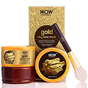 WOW Skin Science Gold Clay Face Mask for Hydrating Skin & Restoring Radiance – No Parabens, Sulphate, Mineral Oil…