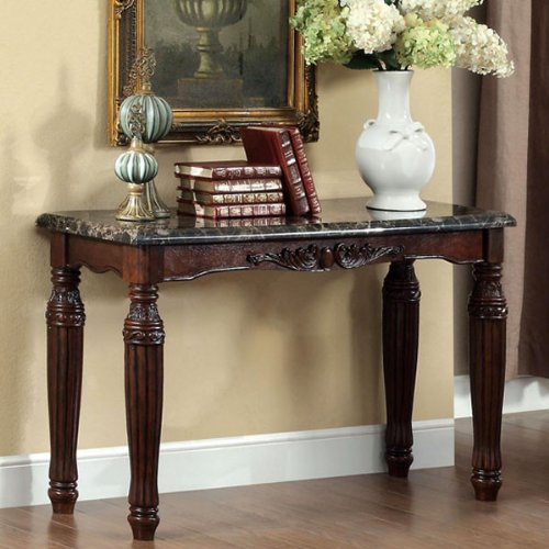 Brampton Classic Style Espresso Finish C - Marble Console Tabletop Shopping Results